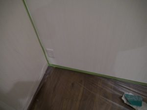 壁と床マスキング